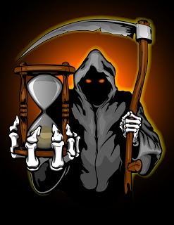 Grim Reaper With Hourglass