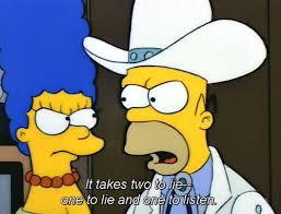 Simpsons lying
