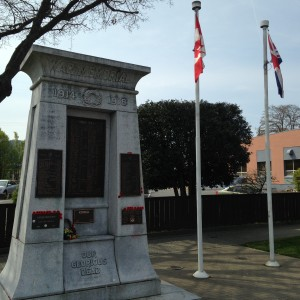 The Cenotaph - Monument to Nanaimos War Dead