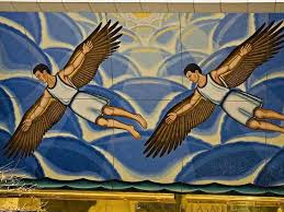 Image result for Abu Nasr Ismail ibn Hammad a-Jawhari mural